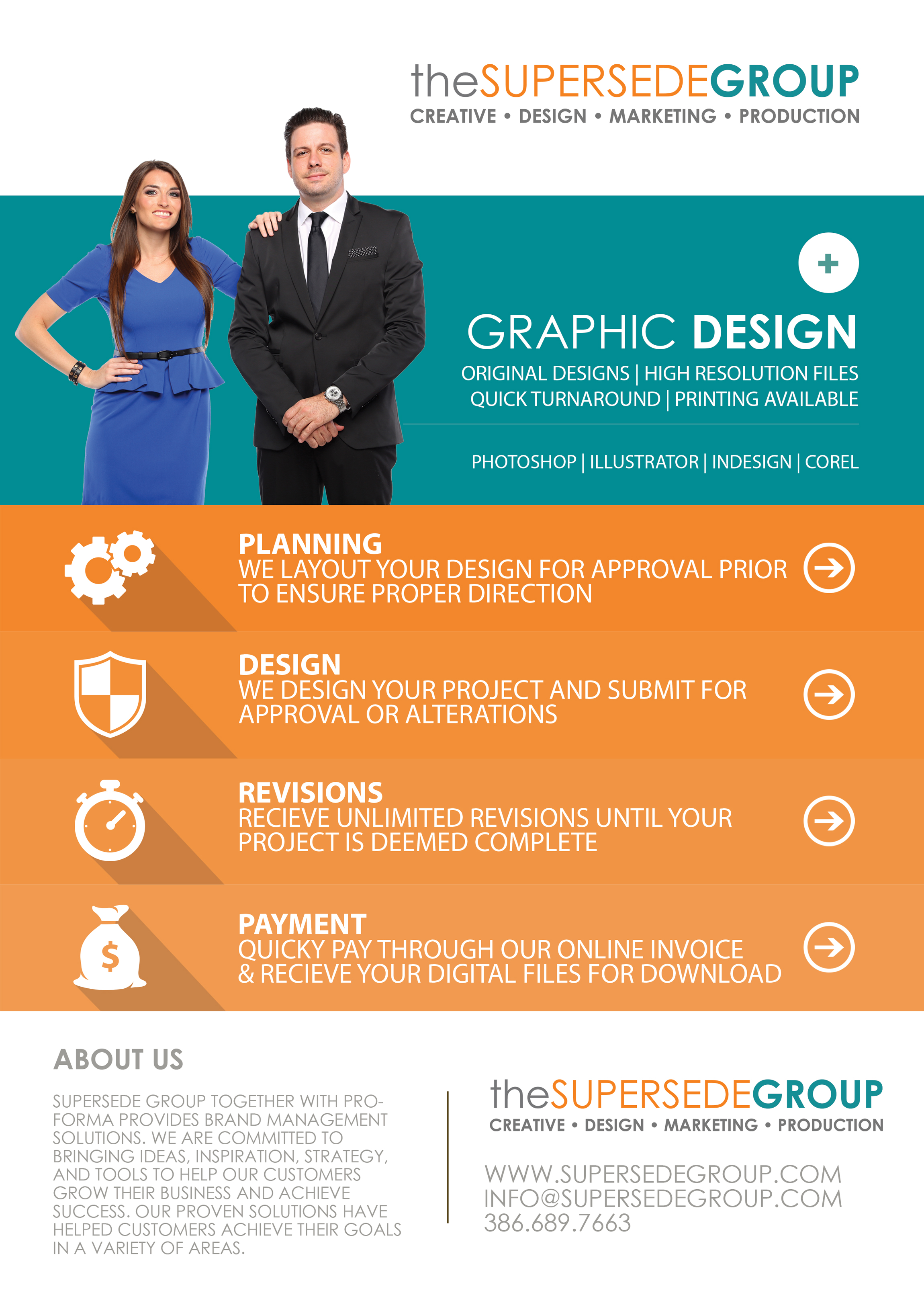The Supersede Group Graphic Design